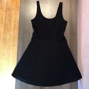 H&M black mini skater dress